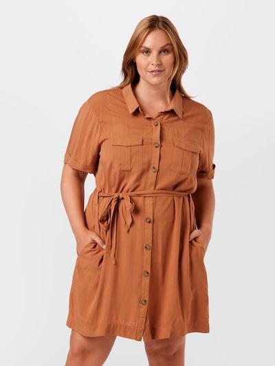 Rochie tip bluză 'Cindy' Z-One pe maro, Vizualizare model