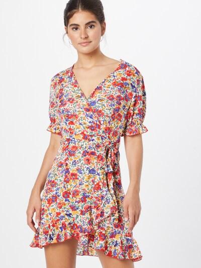 Missguided Kleid in honig / dunkellila / rot / weiß, Modelansicht