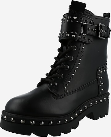 GUESS Lace-Up Ankle Boots in Black