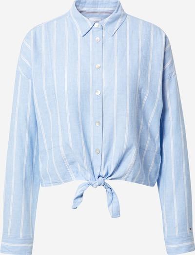 Tommy Jeans Bluse i lyseblå / hvid, Produktvisning