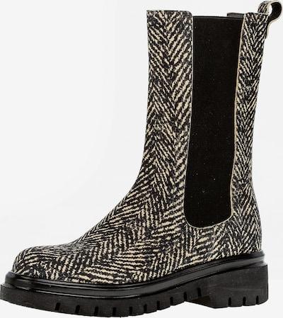 GABOR Chelsea Boots in creme / schwarz, Produktansicht