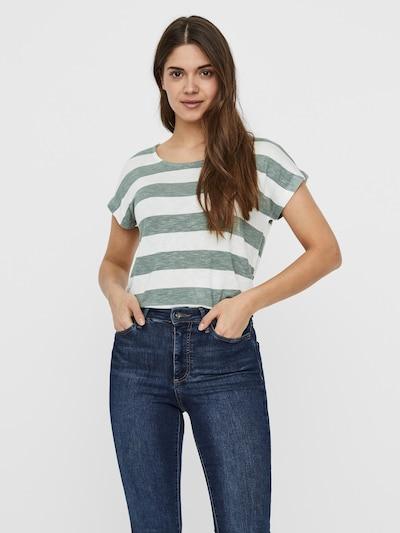 VERO MODA Shirt in de kleur Groen gemêleerd / Wit: Vooraanzicht