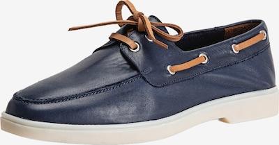 INUOVO Mocassins in de kleur Navy / Bruin, Productweergave