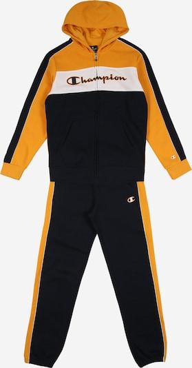 Champion Authentic Athletic Apparel Trainingspak in de kleur Goudgeel / Zwart / Wit, Productweergave