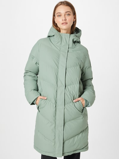 Derbe Between-Seasons Coat in Mint, View model