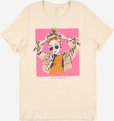 NAME IT Shirt 'KAIA' in creme / dunkelorange / pink / schwarz, Produktansicht