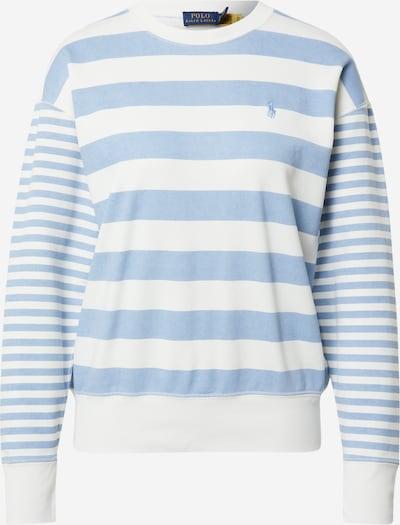 POLO RALPH LAUREN Sweat-shirt en bleu clair / blanc, Vue avec produit