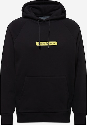 PEAK PERFORMANCE Sportsweatshirt i svart