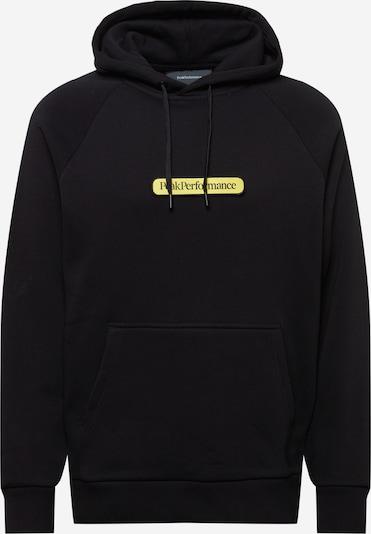 PEAK PERFORMANCE Sportsweatshirt in gelb / schwarz, Produktansicht