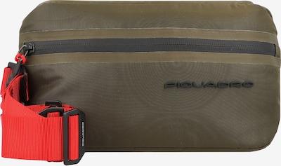 Piquadro Gürteltasche in braun / rot / schwarz, Produktansicht