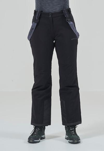 Whistler Skihose 'YARRA' in grau / schwarz: Frontalansicht