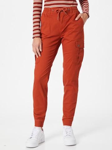 Eight2Nine Klapptaskutega püksid, värv oranž
