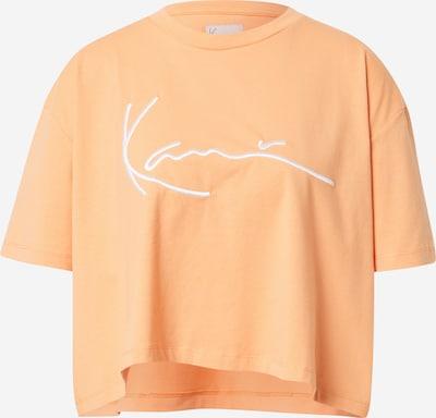 Karl Kani Oversize tričko - svetlooranžová / biela: Pohľad spredu