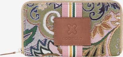CODELLO Geldbörse in braun / hellgrau / hellpink / weiß, Produktansicht