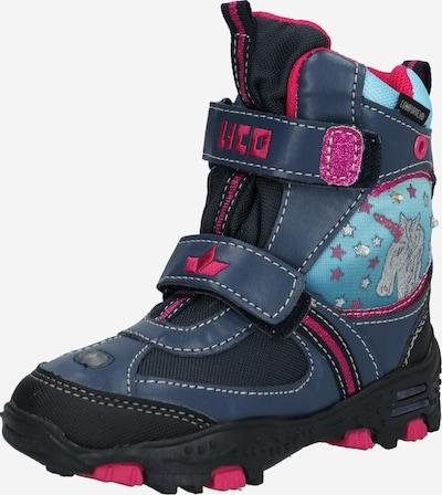 LICO Škornji za v sneg 'Unicorn' | marine / turkizna / roza barva, Prikaz izdelka