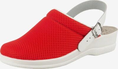 FLY FLOT Pantolette in rot / weiß, Produktansicht