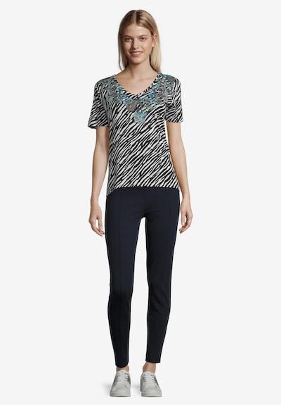Betty Barclay Printshirt mit Placement in schwarz / weiß: Frontalansicht