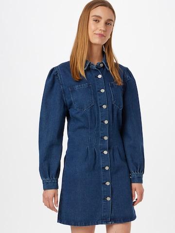 Rochie tip bluză de la Missguided pe albastru