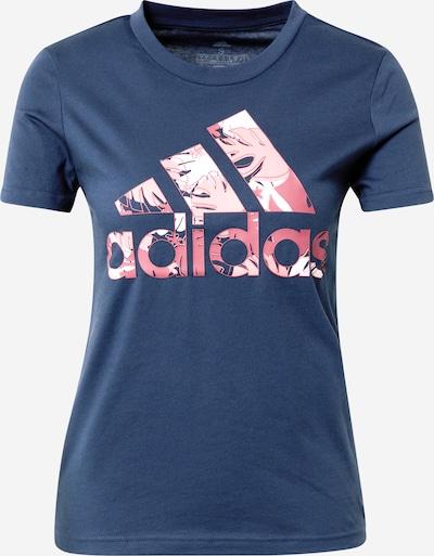 ADIDAS PERFORMANCE Camiseta funcional en azul oscuro / rosa / rosa / blanco, Vista del producto