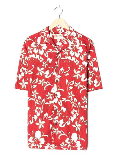 The Hawaiian Original Hawaiihemd in XL in karminrot, Produktansicht