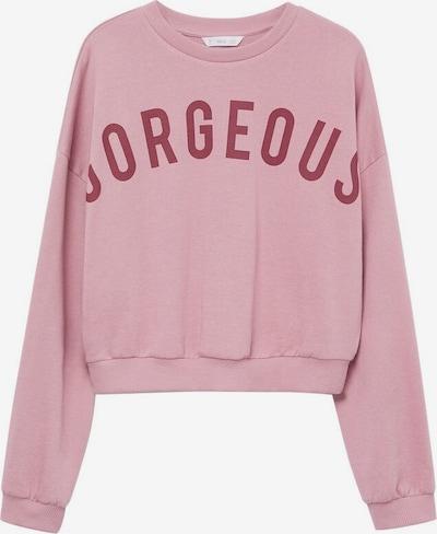 MANGO KIDS Sweatshirt 'Ggorgeous' in pink, Produktansicht