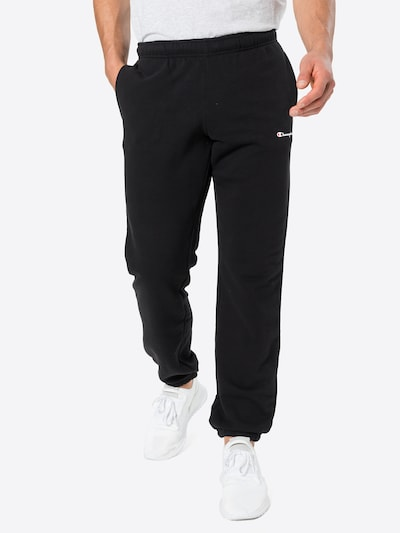 Champion Authentic Athletic Apparel Hose 'Elastic Cuff Pants' in schwarz: Frontalansicht