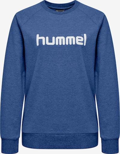 Hummel Sweatshirt in blaumeliert / weiß, Produktansicht