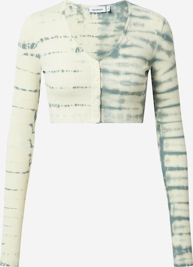 WEEKDAY Gebreid vest 'Teegan' in de kleur Pastelblauw / Natuurwit, Productweergave
