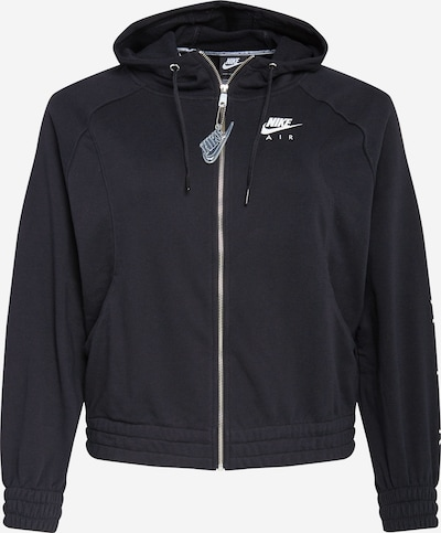 Hanorac Nike Sportswear pe negru / alb, Vizualizare produs