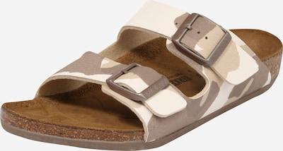 BIRKENSTOCK Zapatos abiertos 'Arizona' en brocado / capuchino / marrón claro, Vista del producto
