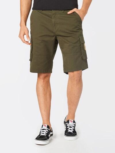Denim Project Pantalon cargo en olive, Vue avec modèle