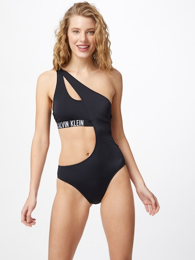 Calvin Klein Swimwear Baddräkt i svart / vit, På modell