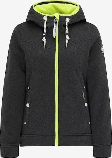 Schmuddelwedda Fleece jas in de kleur Basaltgrijs / Neongroen, Productweergave
