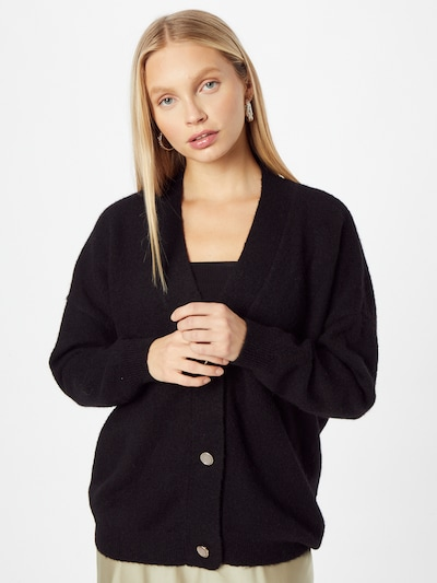 KAREN BY SIMONSEN Strickjacke 'Nora' in schwarz, Modelansicht