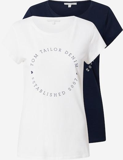 TOM TAILOR DENIM Тениска в нейви синьо / бяло, Преглед на продукта
