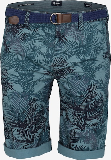s.Oliver Men Big Sizes Shorts in blau / pastellblau / dunkelblau, Produktansicht
