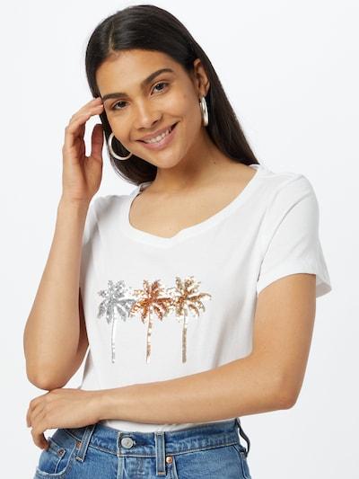 ONLY T-Shirt 'KITA' in gold / silber / weiß: Frontalansicht
