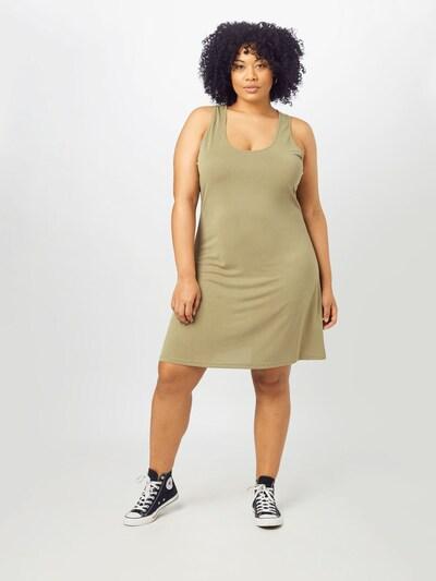 Urban Classics Curvy Kleid in khaki, Modelansicht