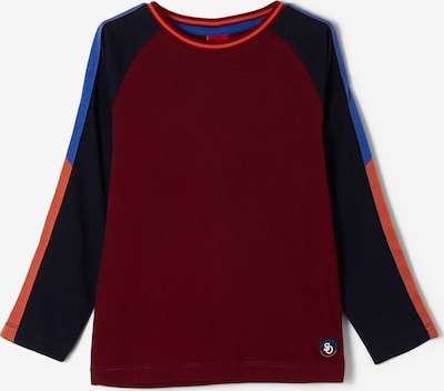 s.Oliver Shirt in navy / royalblau / orange / weinrot, Produktansicht