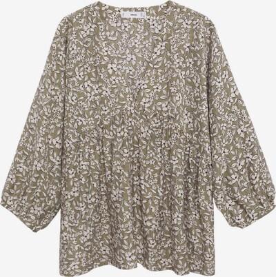 MANGO Bluse 'ALBERTA' in khaki / schwarz / weiß, Produktansicht