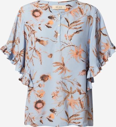 MOS MOSH Bluse 'Tara Thistle' in hellblau / braun / orange, Produktansicht