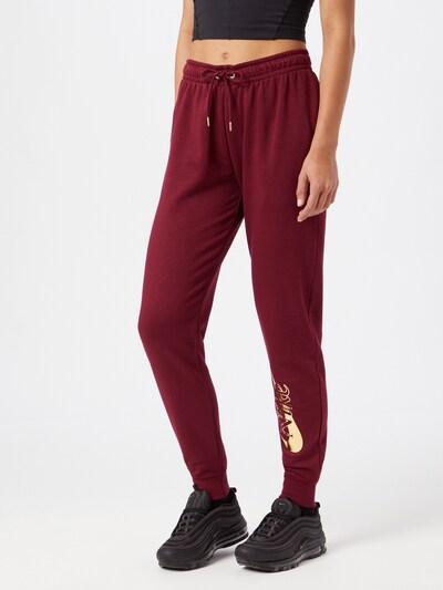 Nike Sportswear Hose in gelb / weinrot, Modelansicht