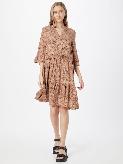 SAINT TROPEZ Shirt Dress 'Eda' in Beige / Black, View model