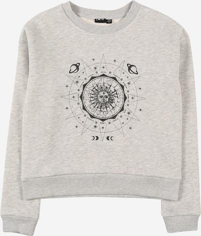 LMTD Sweatshirt 'OLINEA' in de kleur Grijs gemêleerd / Zwart, Productweergave