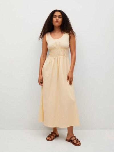 MANGO Sommerkleid in beige, Modelansicht