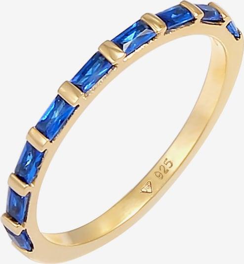 ELLI PREMIUM Ring in Blauw / Goud pAaECDa7