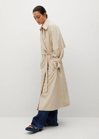 MANGO Płaszcz przejściowy 'Rachel' w kolorze beżowy
