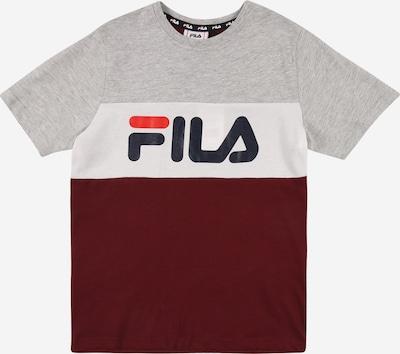 FILA Shirt 'MARINA' in navy / light grey / red / wine red / white, Item view