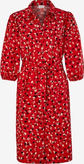 s.Oliver BLACK LABEL Blusenkleid in grau / rot / schwarz, Produktansicht