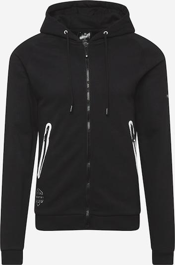 MOROTAI Urheilullinen collegetakki 'Yvo Tech Zip' värissä musta / valkoinen, Tuotenäkymä